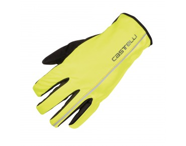 Castelli NANO XT winter gloves yellow fluo