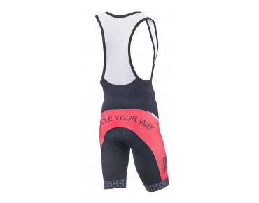ROSE DESIGN TOP bib shorts black/red