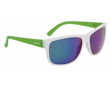 ALPINA HEINY glasses white green/green mirror