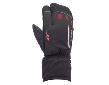 ROSE ALASKA PLUS winter gloves black/red