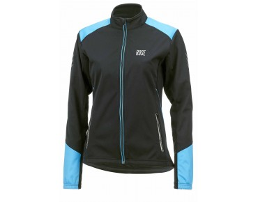 ROSE WIND FIBRE SOFTSHELL Damen-Winterjacke black/sky