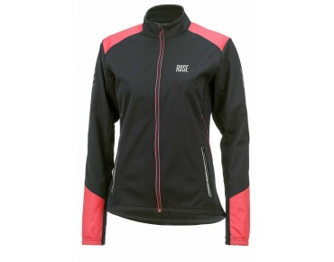 ROSE WIND FIBRE SOFTSHELL Damen-Winterjacke black/teaberry