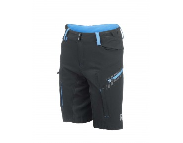 ROSE 2 WAY KIDS Kinder-Bikeshorts black/sky