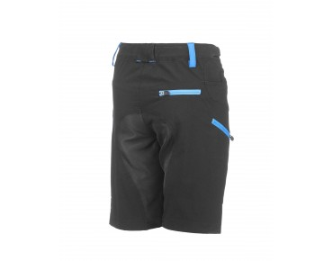 ROSE 2 WAY KIDS bike shorts black/sky