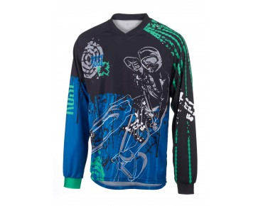 ROSE FR VI long-sleeved bike shirt blue/green/black