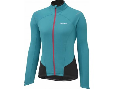 SHIMANO PERFORMANCE women's thermal long-sleeved jersey emerald green