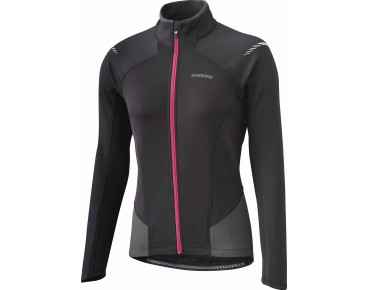 SHIMANO PERFORMANCE women's thermal long-sleeved jersey black