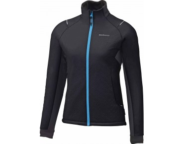 SHIMANO TOUR INSULATED Windschutz-Damenjacke schwarz/lightning blau