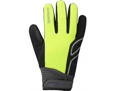 SHIMANO HIGH-VIZ thermal winter gloves neon yellow