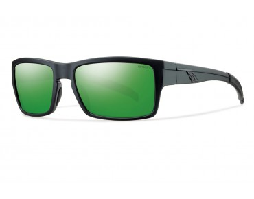 smith optics OUTLIER glasses matte black/green sol-x