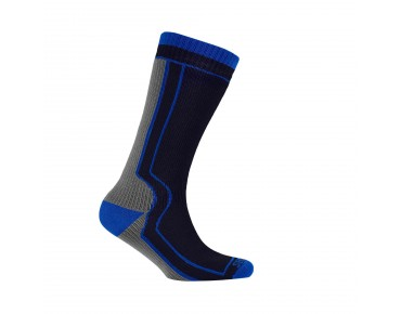 SealSkinz THICK MID-LENGTH waterproof socks black/grey/blue