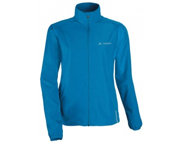 VAUDE DUNDEE CLASSIC ZO JACKET zip-off windbreaker for women teal blue