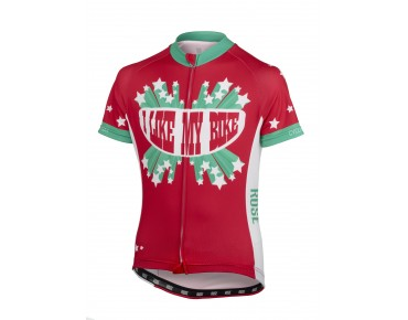 ROSE I LIKE MY BIKE kids' jersey teaberry/green