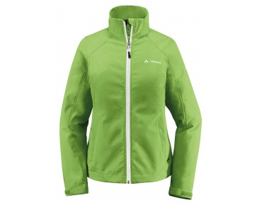 VAUDE HURRICANE III women's softshell jacket limegreen