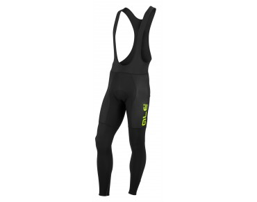 ALÉ ALÉ TRADE PRR PONENTE thermal bib tights black/fluo yellow