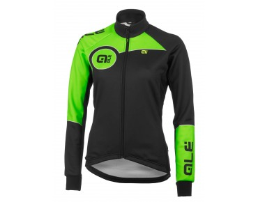 ALÉ TRADE PLUS MARTE 2015 women's soft shell jacket black/fluo green