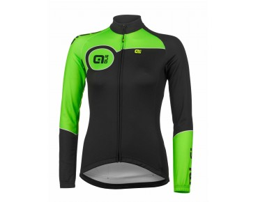 ALÉ TRADE PLUS MARTE 2015 women's thermal long-sleeved jersey black/fluo green