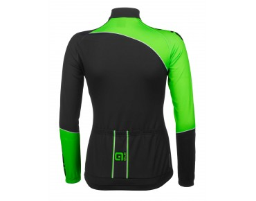 ALÉ TRADE PLUS MARTE 2015 thermojersey met lange mouwen voor dames black/fluo green