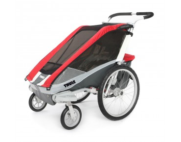 THULE CHARIOT COUGAR 1 / 2 child bike trailer red