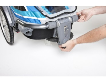 THULE CHARIOT CHINOOK 1 / 2 child bike trailer blue