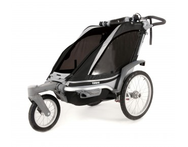 THULE CHARIOT CHINOOK 1 / 2 child bike trailer black