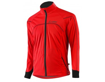 Löffler WINDSTOPPER SOFTSHELL LIGHT cycling jacket rot