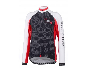 ROSE DOTS light women's long-sleeved jersey black/white/red