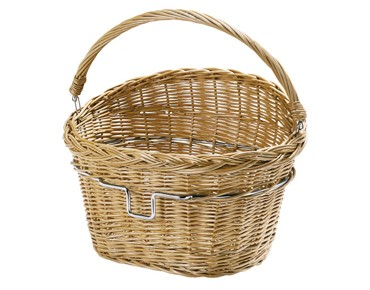 Rixen & Kaul WEIDENKORB front bicycle basket beige