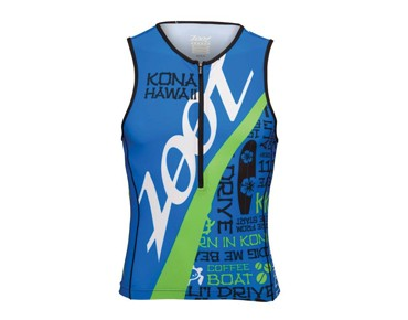 ZOOT ALI'I Ultra Cycle tri top zoot blue/green flash