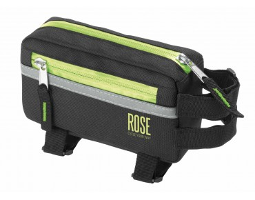 ROSE BASIC top tube frame bag black/lime
