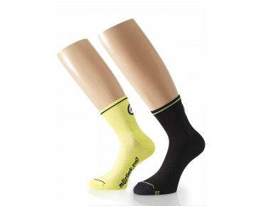 ASSOS Mille_evoS7 twin pack of socks yellow