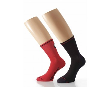ASSOS Mille_evoS7 twin pack of socks red