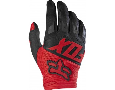 FOX DIRTPAW RACE gloves red/black