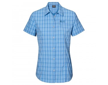 Jack Wolfskin CENTAURA STRETCH VENT Damen Bluse air blue checks