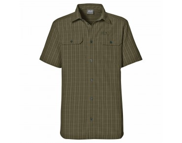 Jack Wolfskin THOMPSON Shirt burnt olive checks