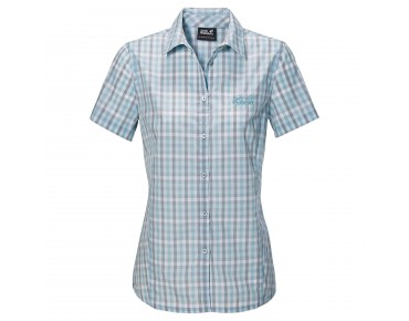 Jack Wolfskin RIVER SHIRT Women aquatic blue checks