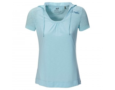 Jack Wolfskin TRAVEL HOODY T-Shirt Women aquatic blue