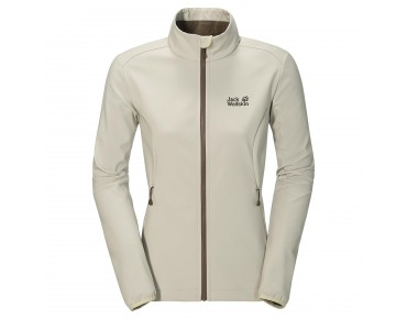 Jack Wolfskin ELEMENT Damen Soft Shell Jacke white sand