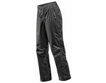 VAUDE FLUID FULL ZIP PANTS S/S waterproof trousers for women – short inseam – black