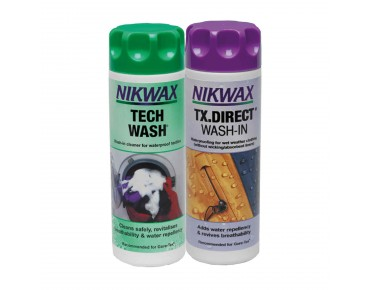 NIKWAX Twin-pack detergent TECH WASH + waterproofing agent TX DIRECT WASH-IN