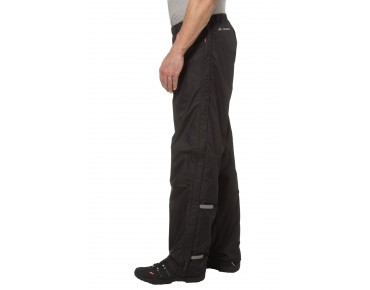 VAUDE FLUID FULL ZIP PANTS II regenbroek black