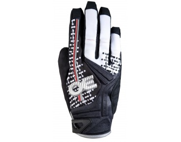 ROECKL MOLVENO full finger gloves black-white