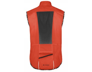 VAUDE AIR VEST II windproof vest glowing red