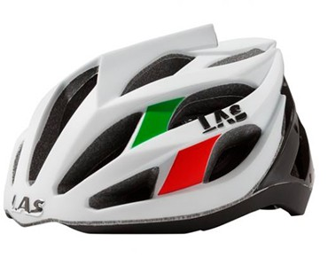 LAS DIAMOND Rennradhelm green/white/red