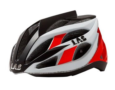 LAS DIAMOND Rennradhelm white/black/red