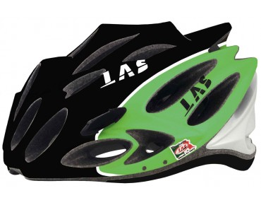LAS SQUALO LIGHT Rennradhelm black/green/white