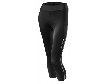 Löffler HOTBOND 3/4-length women's cycling tights black