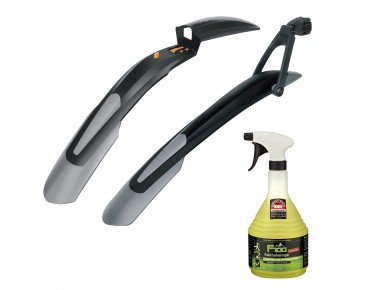 SKS Mudguard set, SKS Shockblade front, SKS X-Blade rear and F100 bike cleaner 1litre