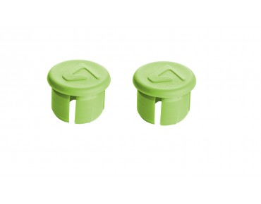 Velox handlebar plugs green