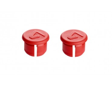 Velox handlebar plugs red
